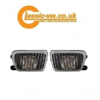 Mk2 Golf Smoked Fog Light Set (Big Bumper) 191941699 / 191941700